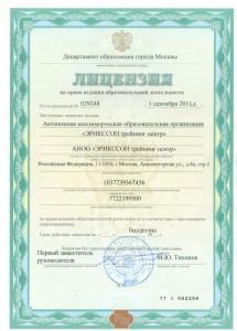 Лицензия 2011 г.